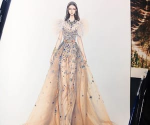 fashion, haute couture, and sketches image