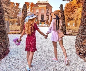 beauty, bffs, and girl image