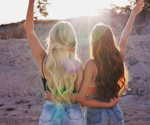 friendship, redhead, and blonde image