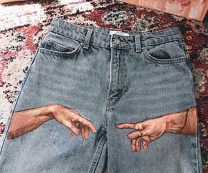 art, jeans, and vintage image