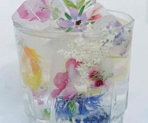 beverage, drink, and flowers image