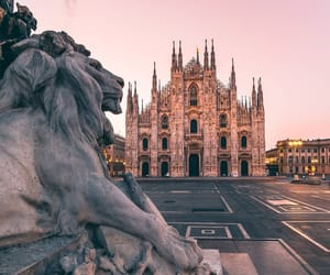 italy, landscape, and milan image