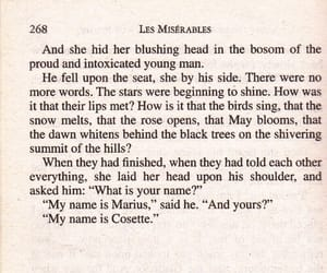 book, les miserables, and text image