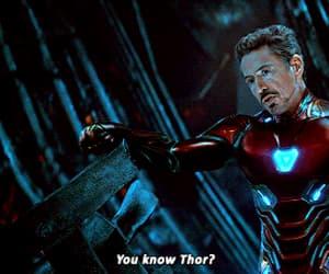 gif, tony stark, and marvel universe image