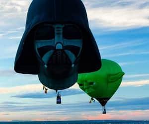 beauty, hotair balloons, and star wars image
