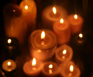 candlelight, candles, and dark image