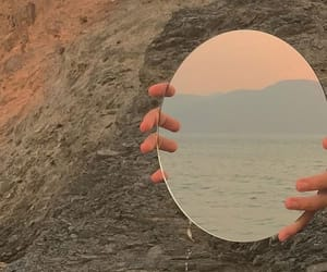 aesthetic, mirror, and reflect image