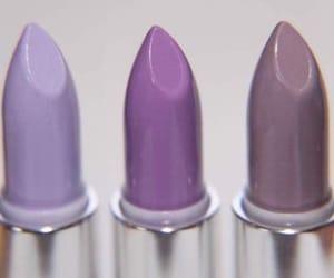 lipstick, makeup, and purple image