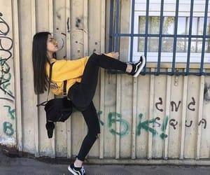 girl, vans, and yellow image