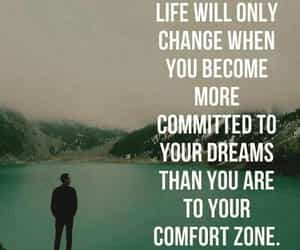 advice, quote, and comfort zone image