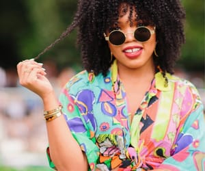 black women, curls, and shades image