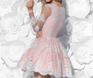 fashion, mini dress, and short prom dress image