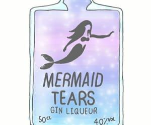 blue, mermaid, and sparkle image
