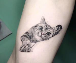 tattoo, cat, and animal image