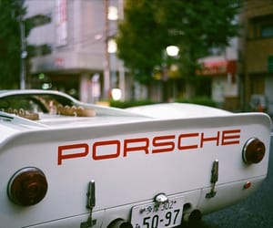 car, porsche, and vintage image