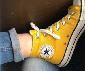 all star, blue jeans, and converse image