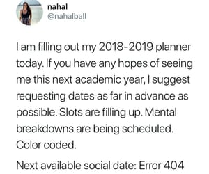 anxiety, college, and funny image
