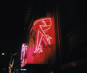 neon, grunge, and red image