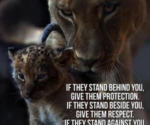 beside you, give respect, and behind you image
