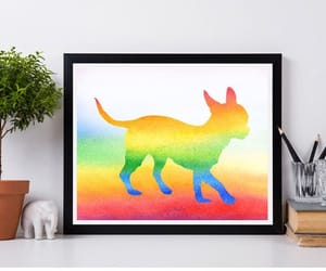 dog, nursery, and holiday gift image