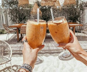 beach, cocktail, and coffee image