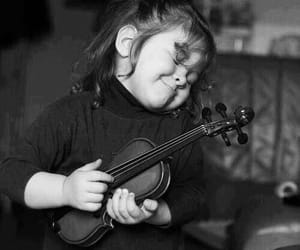 girl, child, and violin image
