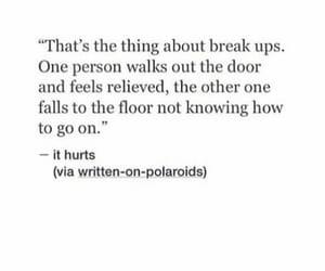 breakup, heartbreak, and heartbreaking image