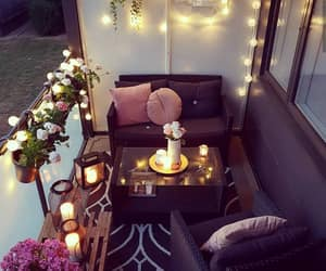 balcony, candles, and ideas image