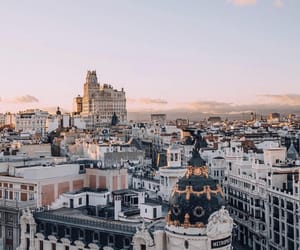 city, travel, and madrid image