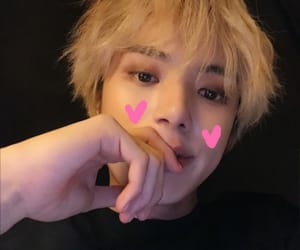 blonde, kpop, and low quality image