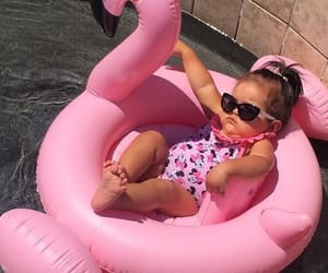 pink, sunglasses, and baby image