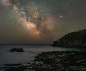 astronomy, beach, and beauty image
