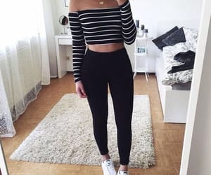 black, outfits, and jeans image