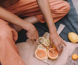 girls and orange image