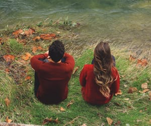 autumn, couple, and clothes image