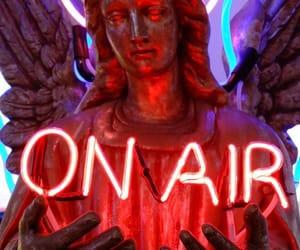neon, angel, and grunge image