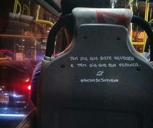 saudade, onibus, and frases image