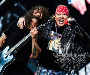 axl rose, concert, and dave grohl image