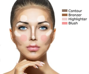 blush, contour, and Foundation image