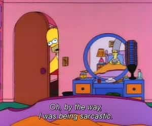 the simpsons, sarcastic, and funny image
