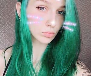 anime, elf, and green image