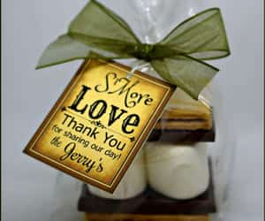 favors, s'mores, and s'more wedding favors image