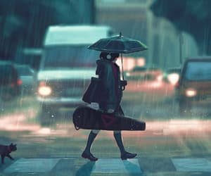 rain, art, and anime image