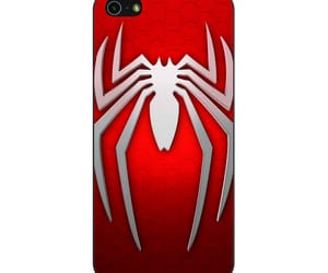 phone cases, iphone 5 5s se case, and spiderman logo red white image
