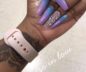 blue, gradient, and nails image