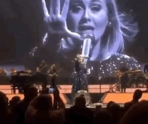 live, Adele, and gif image