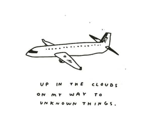 plane, quote, and travel image