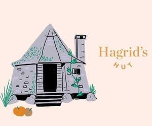 harry potter, rubeus hagrid, and hagrid's hut image
