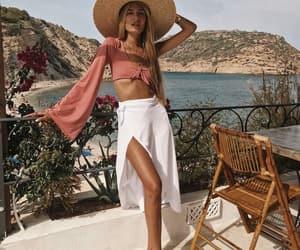 fashion, style, and white skirt image