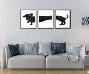 dachshund, etsy, and dog print image